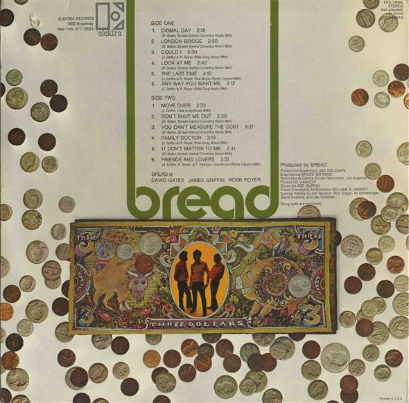 Bread - Bread (1969) front back album cover download